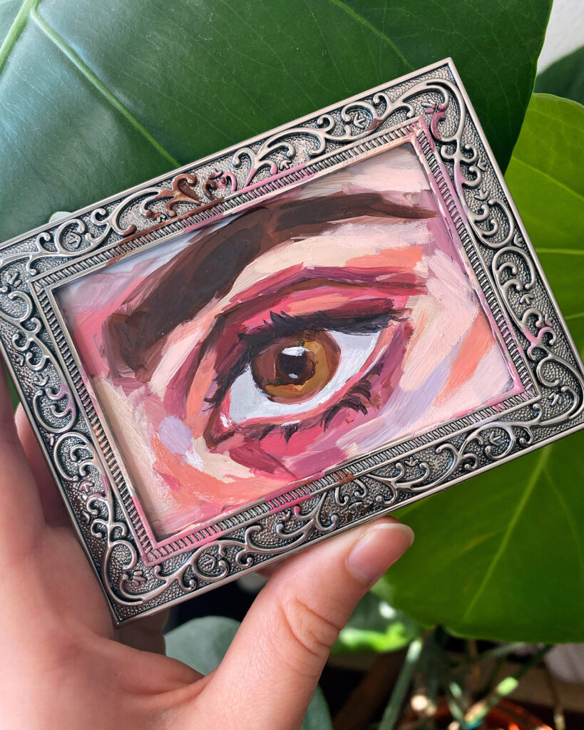 oil painting on glass